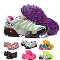 Wholesale solomon women - 2018 Salomon women Shoes zapatos hombre Speed Cross 3 CS III Sport Sneakers Women Speed cross Solomon outdoor jogging walking Shoes 36-40