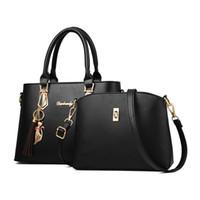 Women Bags Luxury Handbags Women Tote Bags Ladies Handbag Tote For 2018  Messenger Shoulder Bag Sac Bolsas 2 PCS Set 3a57fd718d