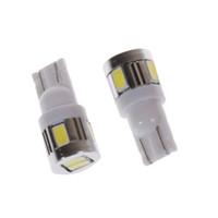 diodo emisor de luz led blanco al por mayor-T10 6smd 5630 LED Bombilla LED Lámparas de marcha atrás Luces de separación Lámparas de lectura DC 12 V Bombillas de diodo emisor de luz Bombillas