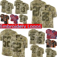 Wholesale barkley jersey online - Camo Salute to Service Bears Khalil Mack Giants Saquon Barkley Jersey Chiefs Patrick Mahomes Aaron Rodgers Football Jerseys