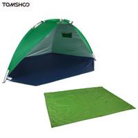equipamento de campo de verão venda por atacado-TOMSHOO Kit de Equipamentos de Acampamento Ao Ar Livre Sleeping Mat Jardim Picnic Grama Cobertor + Verão UV Proteção Tenda À Prova de Umidade À Prova D 'Água