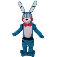 bunny mavi toptan satış-2018 Sıcak satış Beş Nights freddy'nin FNAF at Oyuncak Ürpertici Mavi Bunny Maskot Karikatür Noel Giyim