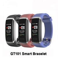 montres couleur cool achat en gros de-COOL Couleur Montre Smart Watch Moniteur de fréquence cardiaque IP67 Imperméable À L'eau Fitness Wearable Activité Fitness Tracker Smart Band Bracelets Montres