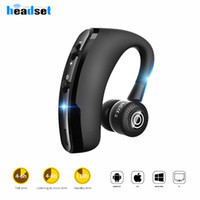 Wholesale iphone stereo headset controls - V9 wireless Bluetooth headphones CSR 4.1 Business Stereo Earphones earbuds With Mic Voice Control package for iphone samsung smartphones
