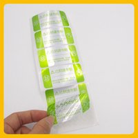 void stickers UK - Customized product security sticker custom item void label sticker after remove sticker
