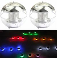 led güneş kayan topu toptan satış-Güneş Enerjili lambalar Paneli Kendinden Şarj Yüzen Bahçe Dekorasyon için LED Topu Gölet Çim lambaları Peyzaj Yard Gece Lambası Q0742
