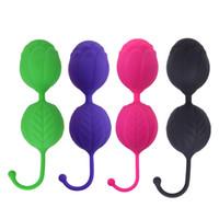vajina sıkma seks oyuncak toptan satış-Tıbbi silikon kegel topları vajinal vibratör seks oyuncakları bolas çinin vajina topu sıkın yardım aşk geyşa topu ben wa seks ürünleri