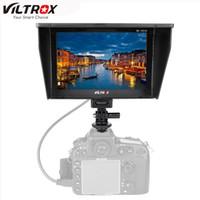 monitor para cámara dslr al por mayor-VILTROX DC-70II 1024 * 600 7 '' Monitor en color TFT LCD Monitor HD Entrada HDMI AV para cámara de cámara DSLR