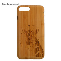 Wholesale iphone solid wood case online – custom 100 Solid Wood Bamboo Case for Iphone s s plus Customize Name and Pattern Design Phone Case Iphone Case