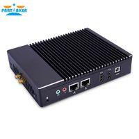 Wholesale computer intel core - Partaker Quad Core J3160 Fanless Mini PC Windows 7 8 10 Dual LAN NICS WIFI PFsense As Router Firewall Server Micro Computer