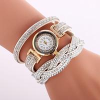geneva gold rhinestone watch 2018 - Rhinestone Bracelet Watch Women Charm Shiny Slim Strap Ethnic Geneva Style Bracelets & Bangles Vintage Lady Jewelry Gift