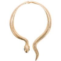 schicke schmuck für frauen großhandel-Chic Gold Silber Schlange Drehmomente für Frauen Mode Schlange Halskette Jubiläumsgeschenk Kurve Einstellbare Halsband Halskette Party Schmuck