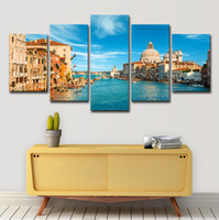 Wholesale italy home decor resale online - Canvas HD Prints Pictures Living Room Wall Art Pieces Venice Italy Landscape Paintings Water City Poster Home Decor