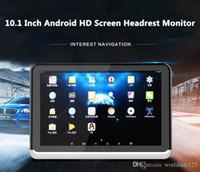 vidéo pour lecteur dvd achat en gros de-Nouveau Android 6.0 voiture lecteur DVD moniteur d'appuie-tête 10,1 pouces HD 1080p vidéo avec WIFI / HDMI / USB / SD / Bluetooth / FM transmetteur