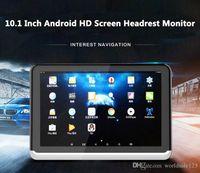 ingrosso giocatore di usb di android tv-Nuovo Android 6.0 Car DVD Headrest Monitor Player 10.1 pollici HD 1080P video con WIFI / HDMI / USB / SD / Bluetooth / Trasmettitore FM