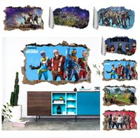 Wholesale game room art for sale - Game Fortnite Wall Decor Sticker Art Picture Fortnight Battle Royale Colors Bedroom Living room Christmas Decorations Wall Decals Gift New