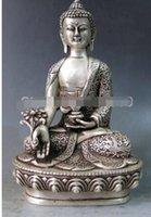 будда медицины оптовых-1 Китай Серебряный Буддизм Храм Повезло Медицина Будда Бодхисаттва Статуя