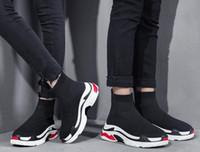 ingrosso nuove scarpe alla moda con tacco alto-2017 Inverno New stylish High Top Stivaletti Slip On Uomo Sport Scarpe casual Punta tonda Stivali tacco Gattino Traspirante Scarpe comode