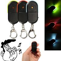 düdük kayıp anahtar bulucu toptan satış-Kablosuz Anti-Kayıp Alarm Key Finder Bulucu Anahtarlık Düdük Ses LED Işık Renk sizin için en çok satan
