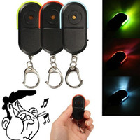 Wholesale whistling keychain finder resale online - Wireless Anti Lost Alarm Key Finder Locator Keychain Whistle Sound LED Light Color best selling for you