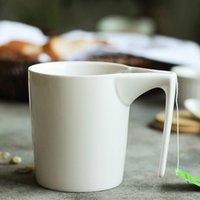 fancy geschenke taschen großhandel-Becher 330 ml Kreative Keramiktasse Mit Teebeutel Spezielle Schlitz Tasse Teebeutel Mit Becher Home Office Ausgefallene Geschenk Für Teetrinker