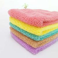 kostenlose fedex kleidung großhandel-Quadratisches weiches Handtuch-Auto-Reinigungs-Wäsche-Kleidung-Kind-erwachsenes Gesicht-Tuch-Großverkauf DHL FEDEX geben Verschiffen frei