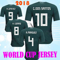 Wholesale Womens Xxl Shirt - 17-18 Mexico Women 14 Chicharito J.Hernandez Thai Quality Jerseys,Customized 19 O.Peralta Womens Soccer Jerseys shirts,11 C.VELA Soccer Wear
