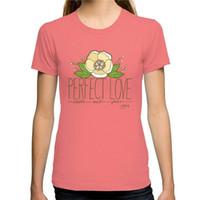 col parfait achat en gros de-Tee-shirt à manches courtes cinq couleurs 100% coton O-Neck Perfect Love à manches courtes