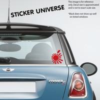 rote laptops apfel großhandel-Car styling für JDM RISING SUN APPLE 5