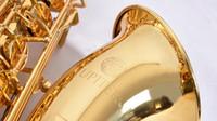 boutons musicaux achat en gros de-Nouveau JUPITER JTS-587GL Sib Tune Saxophone ténor de haute qualité en laiton plaqué or Instruments de musique professionnels Perle boutons avec embout buccal