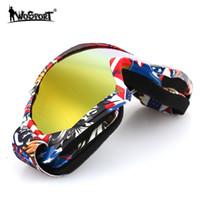 ayna sisi toptan satış-Antifogging Kayak Gözlüğü Binme Gözlüğü 2018 Windproof Wind Mirror Anti Sis Oyunu