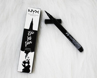 ingrosso matite di inchiostro-Dropshipping NYX Epic Ink Liner nyx Black eyeliner pencil Headed makeup liquido Colore nero eye liner waterproof Cosmetici Long Lasting