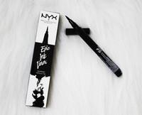 makyaj için mürekkep toptan satış-Dropshipping NYX Epic Mürekkep Astar nyx Siyah eyeliner kalem Başlı makyaj sıvı Siyah Renk göz kalemi su geçirmez Kozmetik Uzun Ömürlü