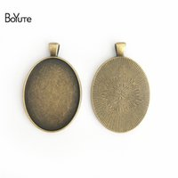Wholesale bezel tray for pendants for sale - Group buy BoYuTe Pieces MM Cabochon Base Vintage Jewelry Accessories Parts Black Bezel Tray Pendants for Jewelry Making Findings Diy