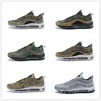 Wholesale france country - 2018 New Arrival 97 Bullet PRM Country Camo France UK Italy Japan Sports Running Shoes for International Men's 97s Jogging Sneakers EUR40-46
