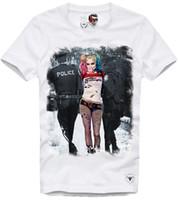 vilains t shirts achat en gros de-E1SYNDICATE T SHIRT HARLEY QUINN JOKER RIOT NAUGHTY PIN UP PARIS DISOBEY 2839C