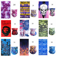 Wholesale adult cartoon scarf online - 23styles Seamless Multifunction printed D mask Cycling Snowboard Scarf Neck Face Mask Cycling Scarf headscarf skull mask FFA811