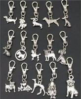 High quality key pendant Antique Silver Zinc Alloy Mixed dog Key Chains DIY Keys Car Bag Handbag Jewelry Accessories A88