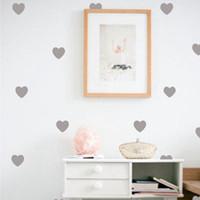 ingrosso arte della parete delle neonate-Adesivi murali Little Hearts Wall Stickers, rimovibile decorazione domestica Wall Stickers per bambini Baby Girl Room Modern Decor