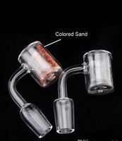 Wholesale Pipe Polishing - 2018 Hotsell Thermale Banger with Colored Sands inside Domeless Quartz Banger Nail with Male Female Polished Joint For Glass Water Pipe