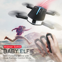 Wholesale jjrc h37 for sale - Group buy JJRC H37 Mini BABY ELFIE Selfie Drone WIFI FPV Drone With P Camera APP G sensor Remote Control Support Picture Video Real Time Transmiti