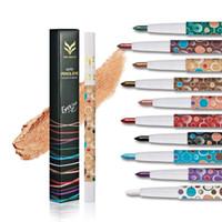 Wholesale Glitter Liners - Colorful Glitter Eyeliner Liquid Waterproof Long Lasting Shiny Eye Liner Makeup Natural Shining Lady Eye Cosmetic YE10