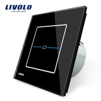 Wholesale Touch Light Switches Standard - Livolo EU Standard, VL-C701-32,Black Crystal Glass Panel, AC 220~250V 1Gang Wall Light Touch Screen Switch,Free Shipping