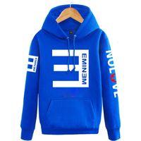 ingrosso nuove magliette stampate eminem-Felpe con cappuccio in pile da uomo lettera Inverno Eminem Pullover stampato Felpa da uomo Abbigliamento sportivo Moda Abbigliamento Donna Felpa Nuovo