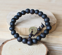 ingrosso prodotto di gioielli in rilievo-Nuovo prodotto caldo 10mm perline braccialetto nero buddha perline gioielli moda regali disponibili all'ingrosso 5 colori perline rotonde articoli