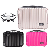 Wholesale Rc Spare Parts - 2018 Best Selling Bag for DJI Spark Waterproof Hardshell Handbag PC Case Bag RC Spare Parts Suitcase Box for DJI Accessories