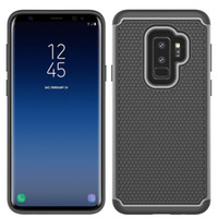 Wholesale heavy impact phone cases online - Armor Heavy Duty Case Hybrid Impact Hard Defender Protective Cover For Samsung Galaxy S9 For Samsung Galaxy S9 Plus Phone Case A