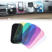 gel-mount-auto großhandel-Universal Sticky Pad Anti-Rutsch-Matte Gel Dash Car Mount Halter für Handy Hochwertige 7 Farben erhältlich