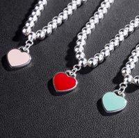 brazalete pulsera de amor 925 al por mayor-2019 CALIDAD SUPERIOR 925 pulsera de cuentas de plata esterlina pulseras Mujeres Joyería Nail Cuff Love Bangle regalo de Navidad Envío gratis