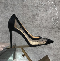Wholesale sexy photo shoes for sale - Real photo Fashion Women Pumps sexy lady Black mesh Criss Cross strappy Point toe shoes pumps Stiletto heels boots